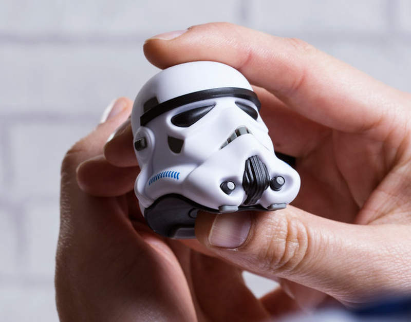 Stormtrooper helmet Bluetooth speaker doubles as shutter remote