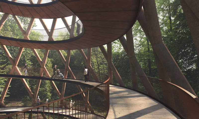 This spiral tower will offer spectacular view of Denmark's Camp Adventure_4