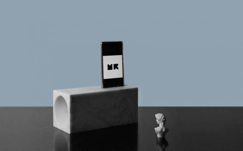 Trombetta marble iPhone speaker dock by Moreno Ratti