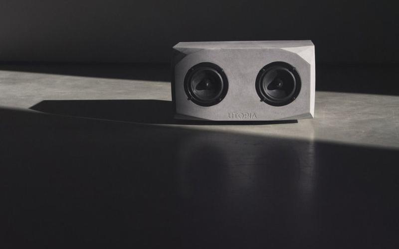 Utopia smart concrete speaker combines elegance with superior acoustics