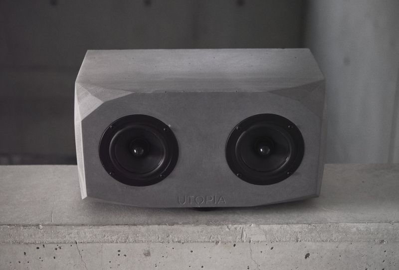 Concrete made Titan desk speaker by UTOPIA