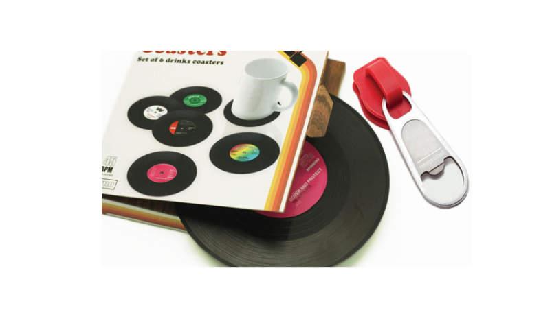 Vinyl Record Beverage Coasters_1