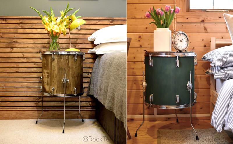 Wooden Drum Nightstand