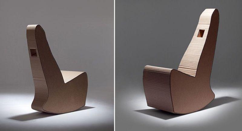 Nook Design Rocking Cardboard Chairs