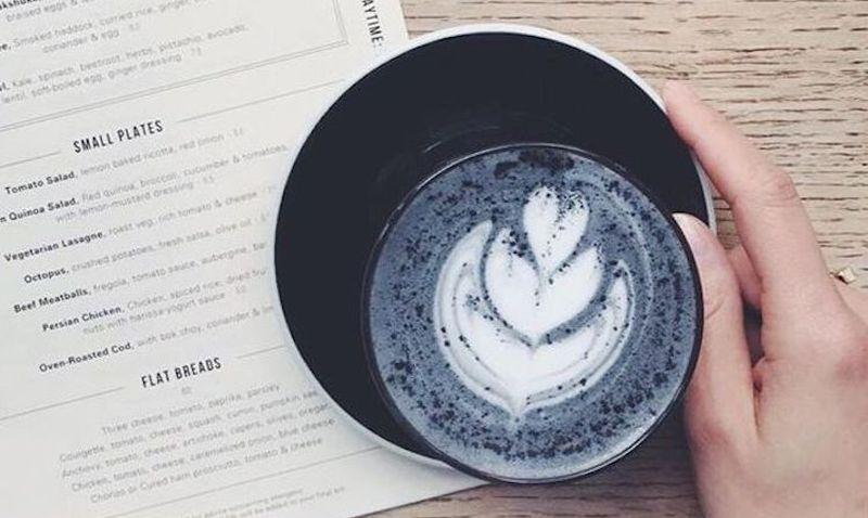 charcoal-latte-black goth coffee