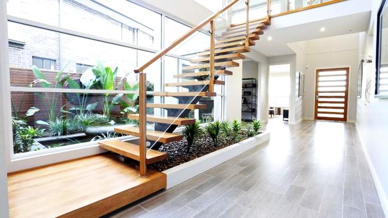 grow indoor plants under the stairs