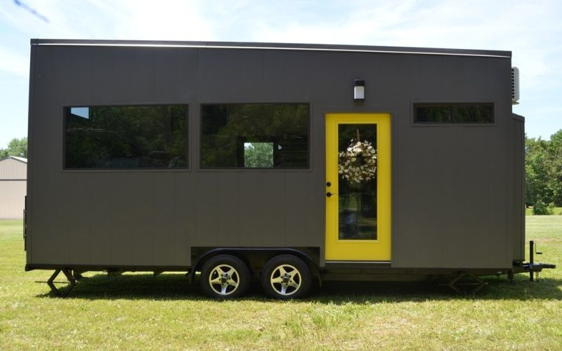 Fully-furnished custom-built tiny home is good to go with you