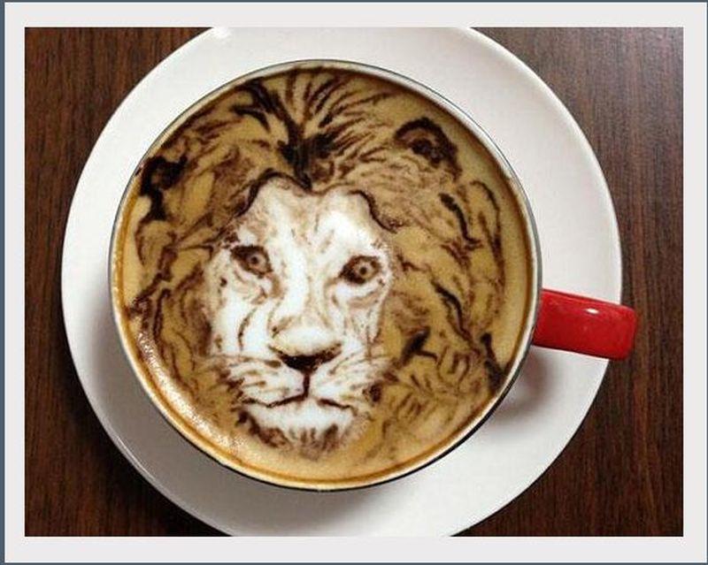 lion latte art