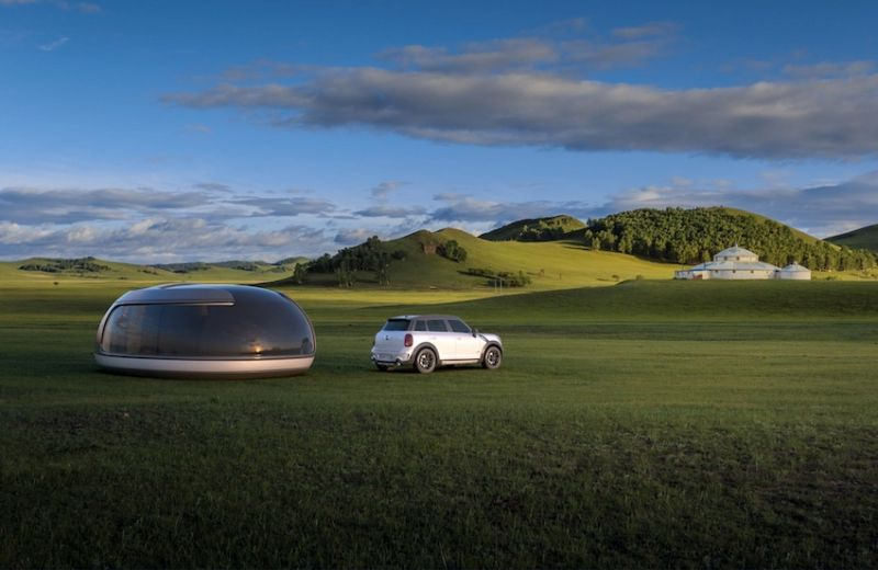 Luxury camping pod at outdoors