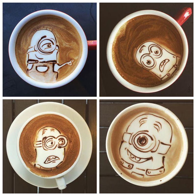 minion-latte art