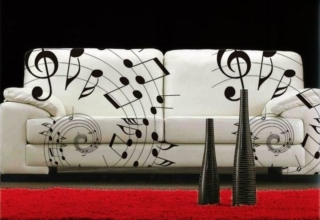 music inspired sofa