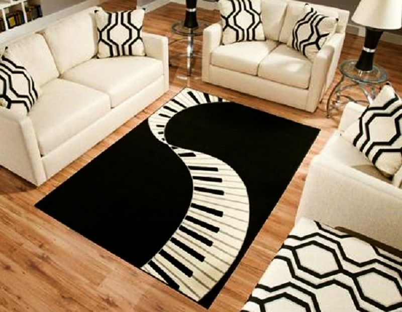 Interior Design Area Rugs And Furniture ~ Music themed home decor ideas for avid lovers
