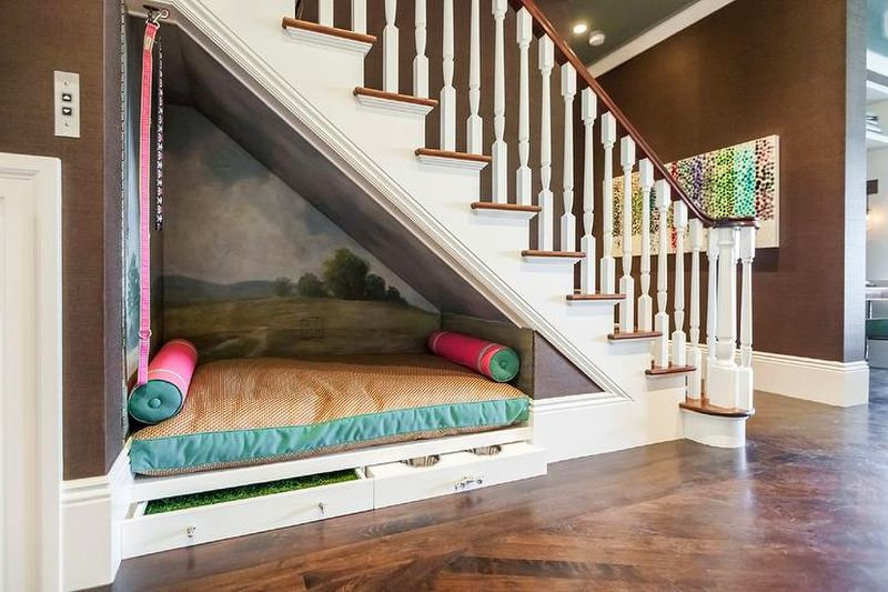 relaxing nook under the stairs