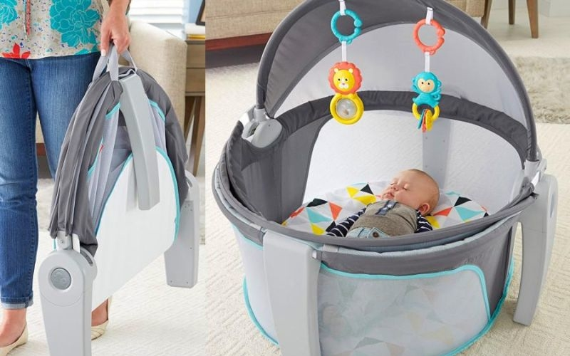 UV-protected on-the-go baby dome is perfect for naptime or playtime