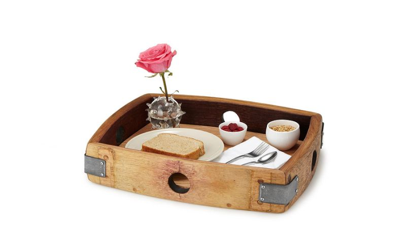 tray made from old wine barrels
