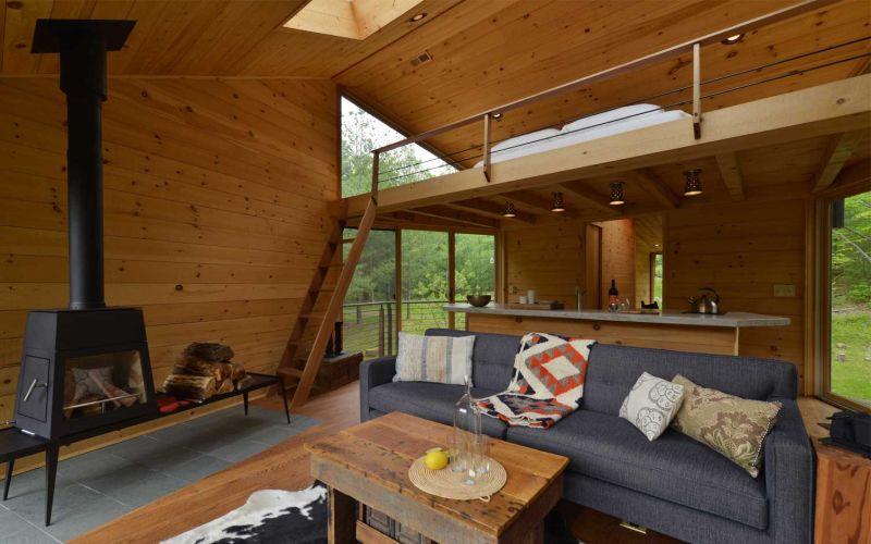 Inhabit Treehouse of Woodstock town living room