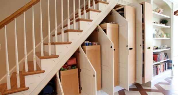 utilize under stairs space with these space-saving ideas