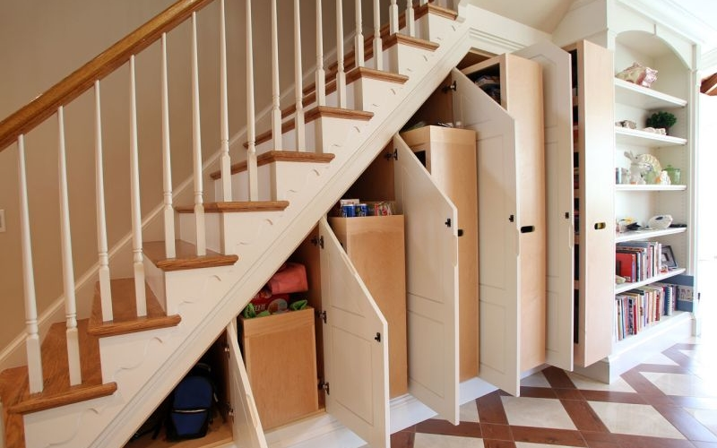 15 smart ideas to utilize space under stairs