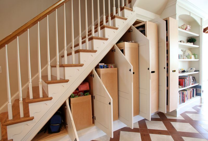Unique Under Stair Storage solution