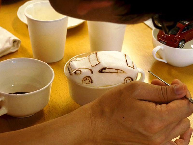 volkwages latte art