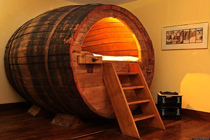 wine barrel bed