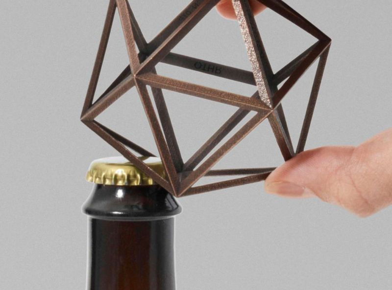 Ico geometrical bottle opener