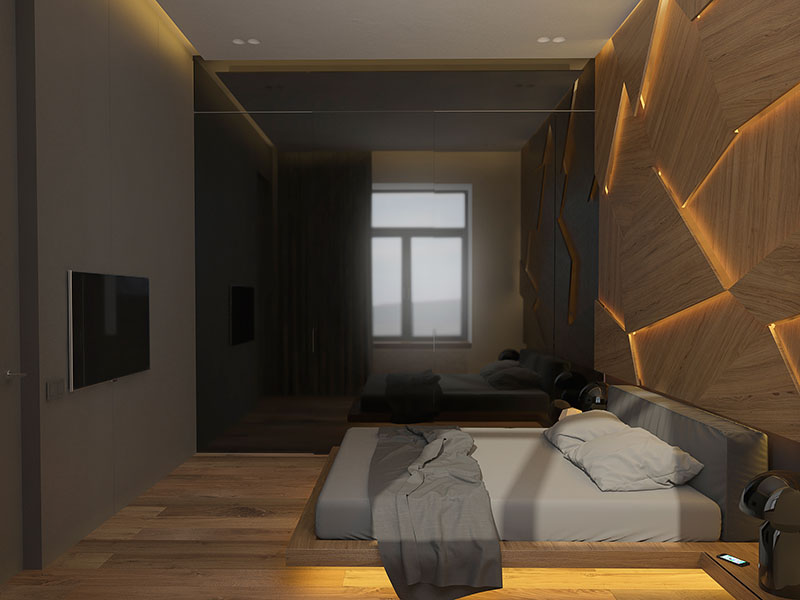 25 geometric home d cor ideas you will love for Geometric accent wall
