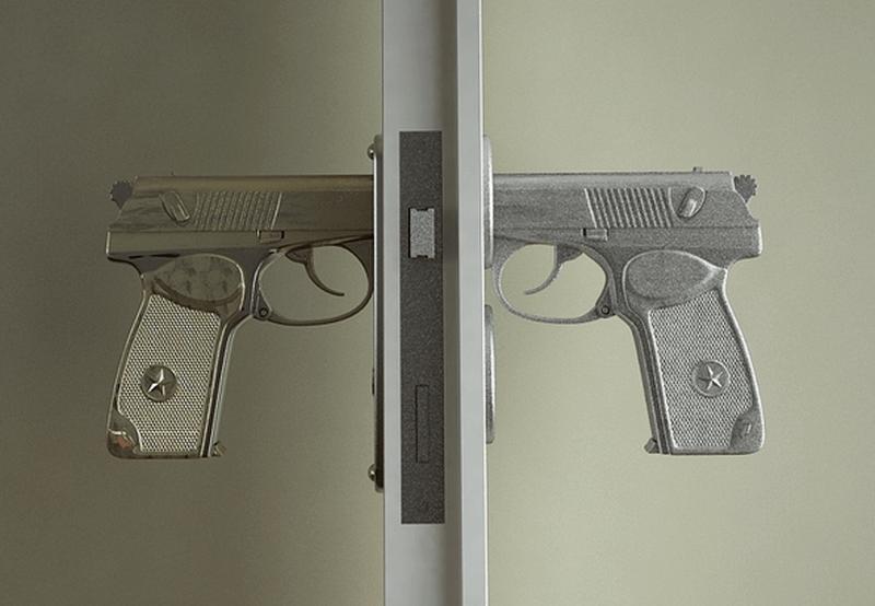 Gun door knob by Napalm Design
