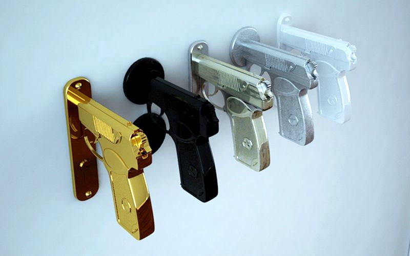Gun-shaped doorknob