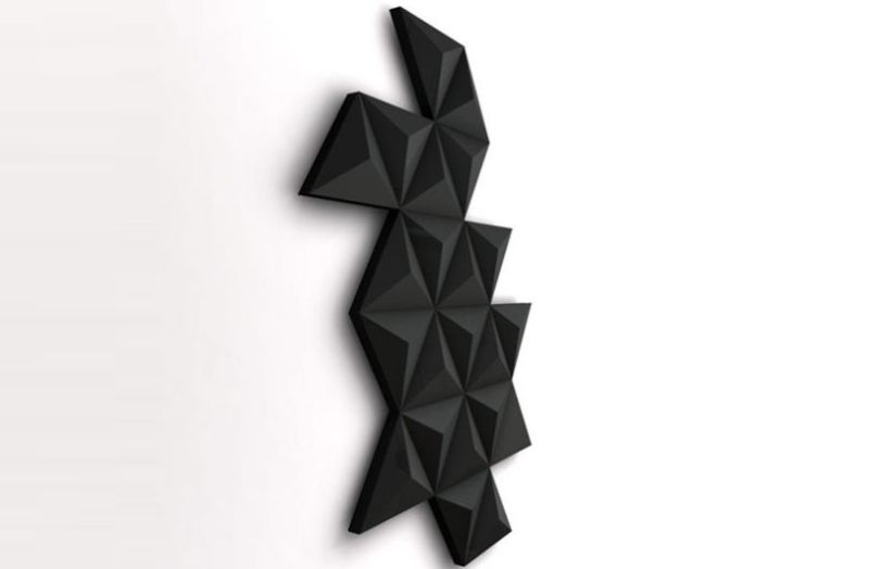 Black Diamond wall heater by Foursteel