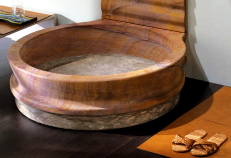 Fusion natural stone bathtub from IL Marm