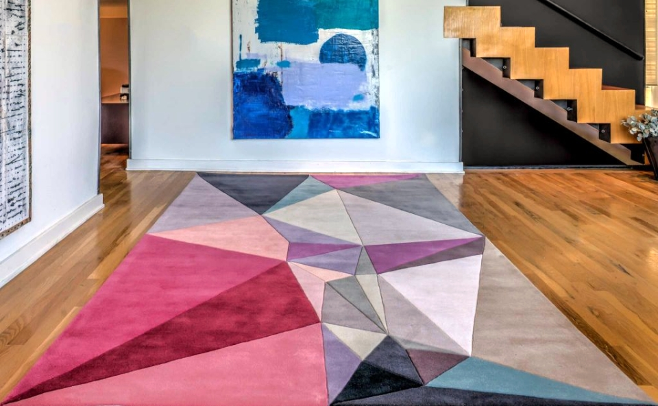 Geometric-patterned rugs by Karim Rashid