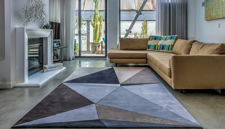Geometric patterned rugs by Karim Rashid