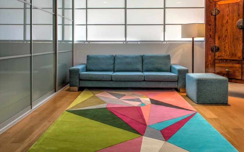 Geometric-patterned rugs by Karim Rashid