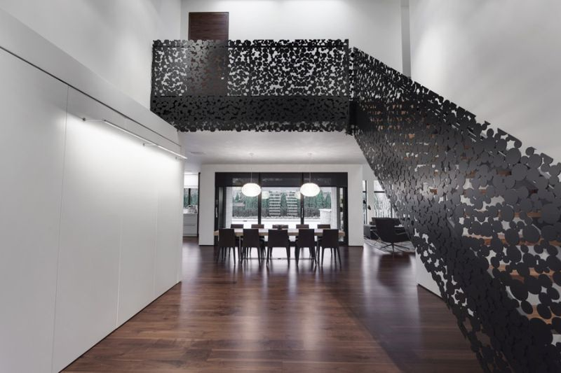 Iron lace staircase
