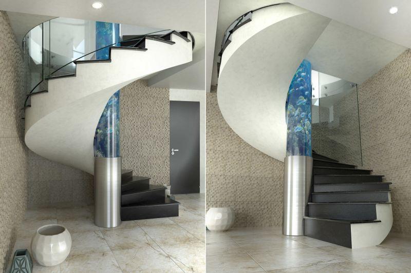 Aqua staircase