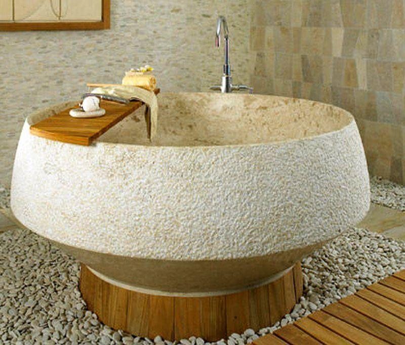 30 stone bathtubs that will rock your bathroom