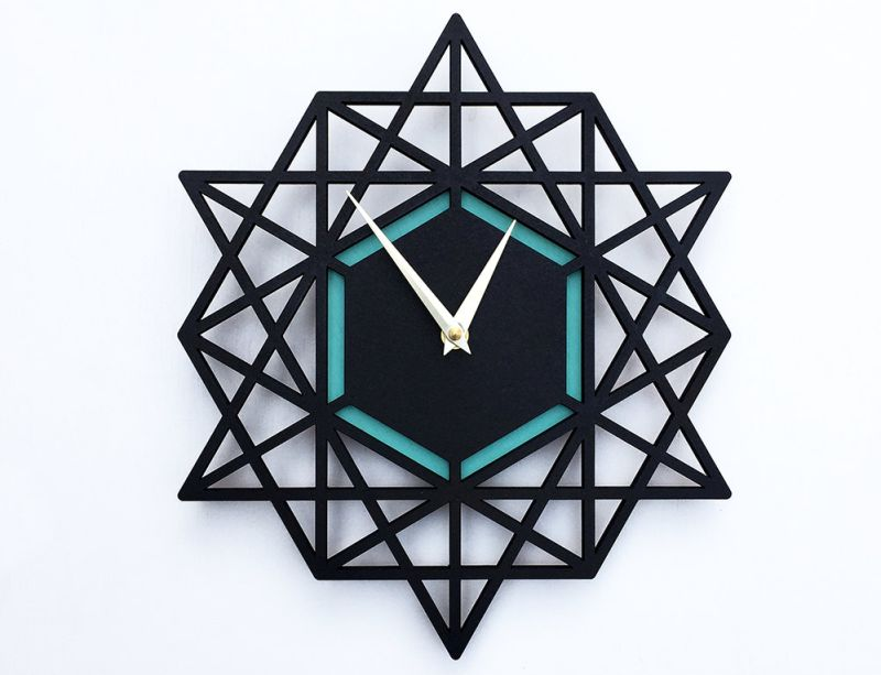 Geometrical wall clock
