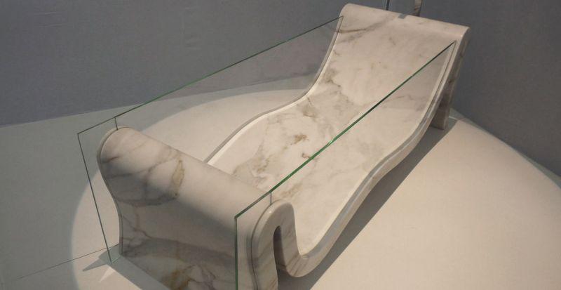 Dedalo Stone's transparent bathtub