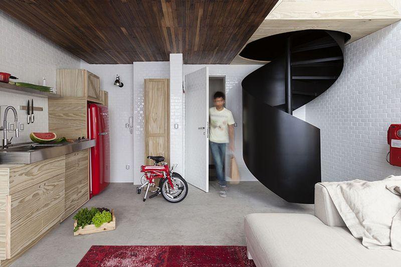 Metal staircase by architect Alan Chu