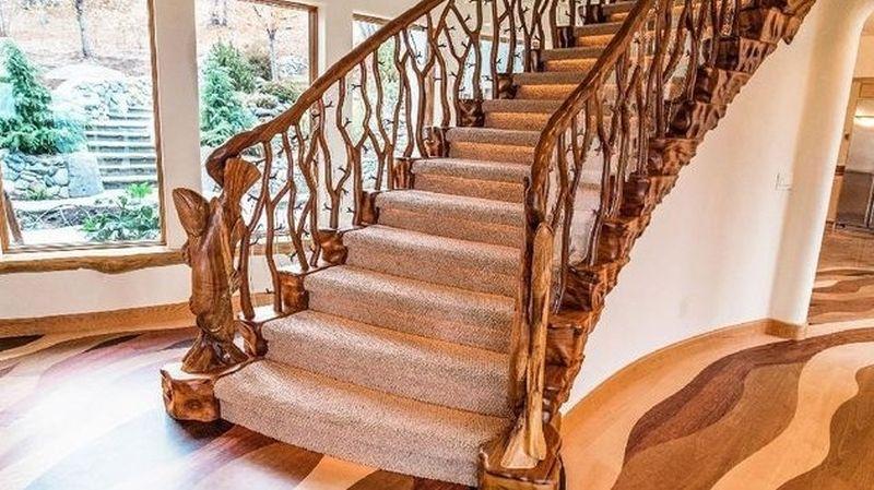 Hobbit house staircase in Ashland, Oregon