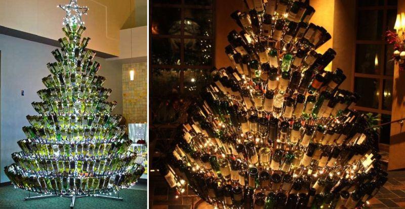 cool wine bottleus christmas tree with wine bottle christmas tree