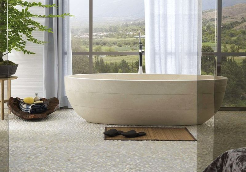 30 Stone Bathtubs That Will Rock Your Bathroom (In Pictures)