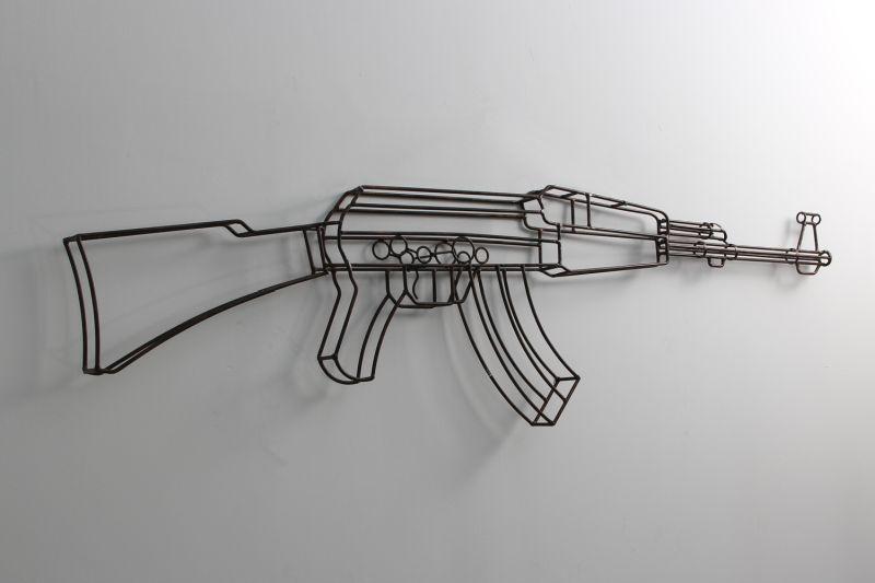 AK-47 metal wall sculpture