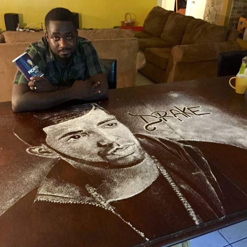 Drake's salt portrait by Allan