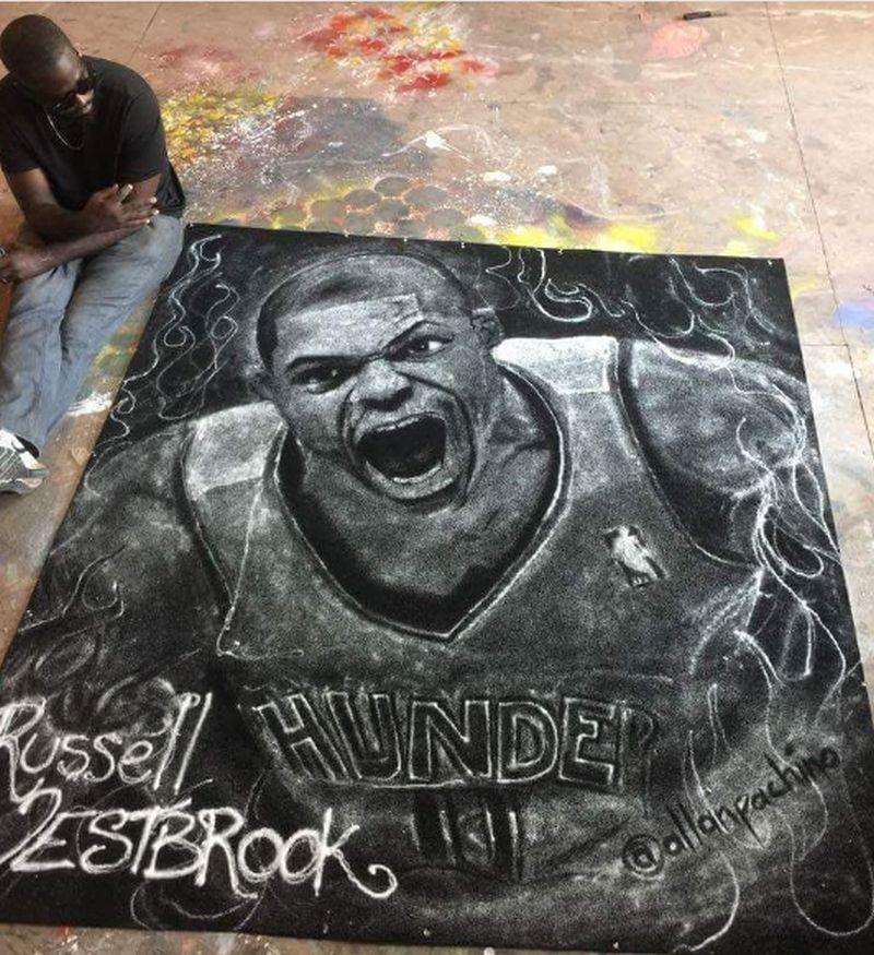 Russell Westbrook salt portrait