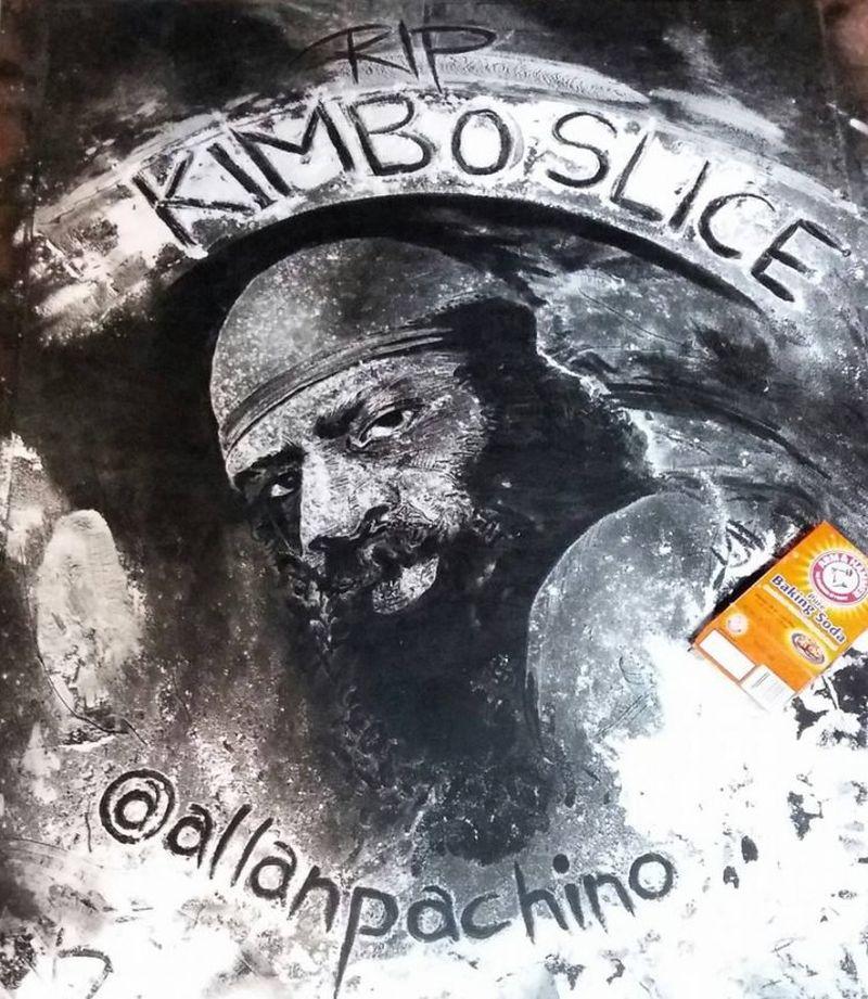 Kimbo Slice's baking soda portrait by Allah