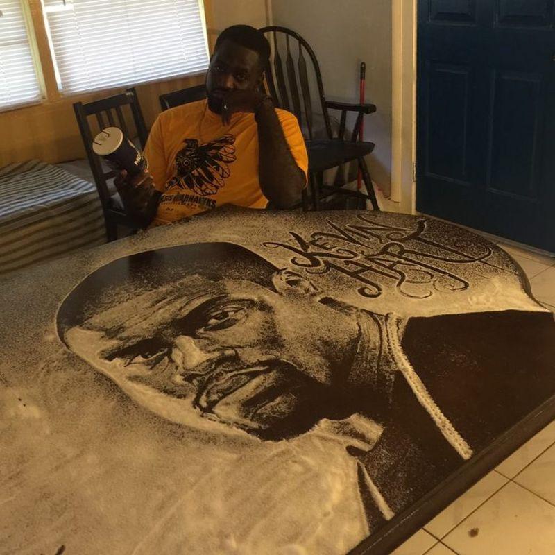 Kevin Hart's salt portrait by Allan