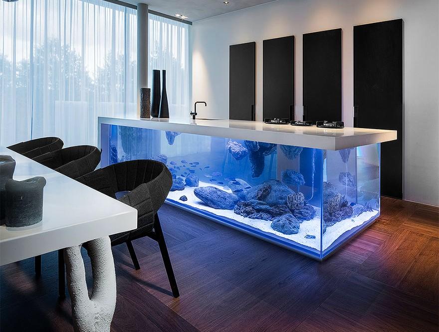 Aquarium kitchen island by Robert Kolenik