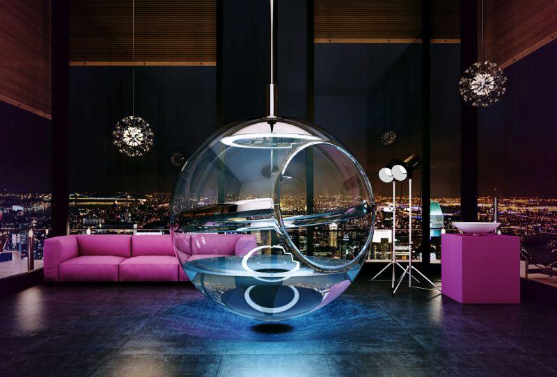Bathsphere glass bathtub